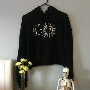 Moon and Sun Cropped Hoodie